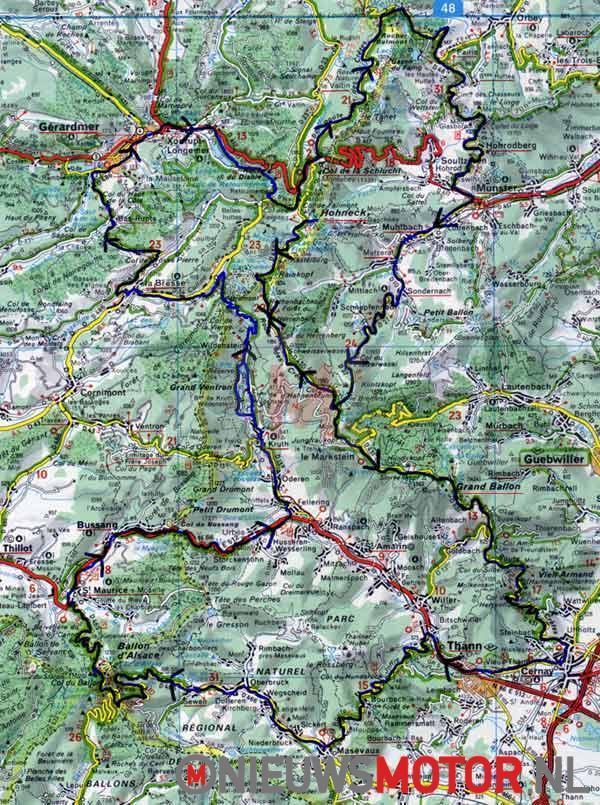 cols passen bergpassen Franse Vogezen
