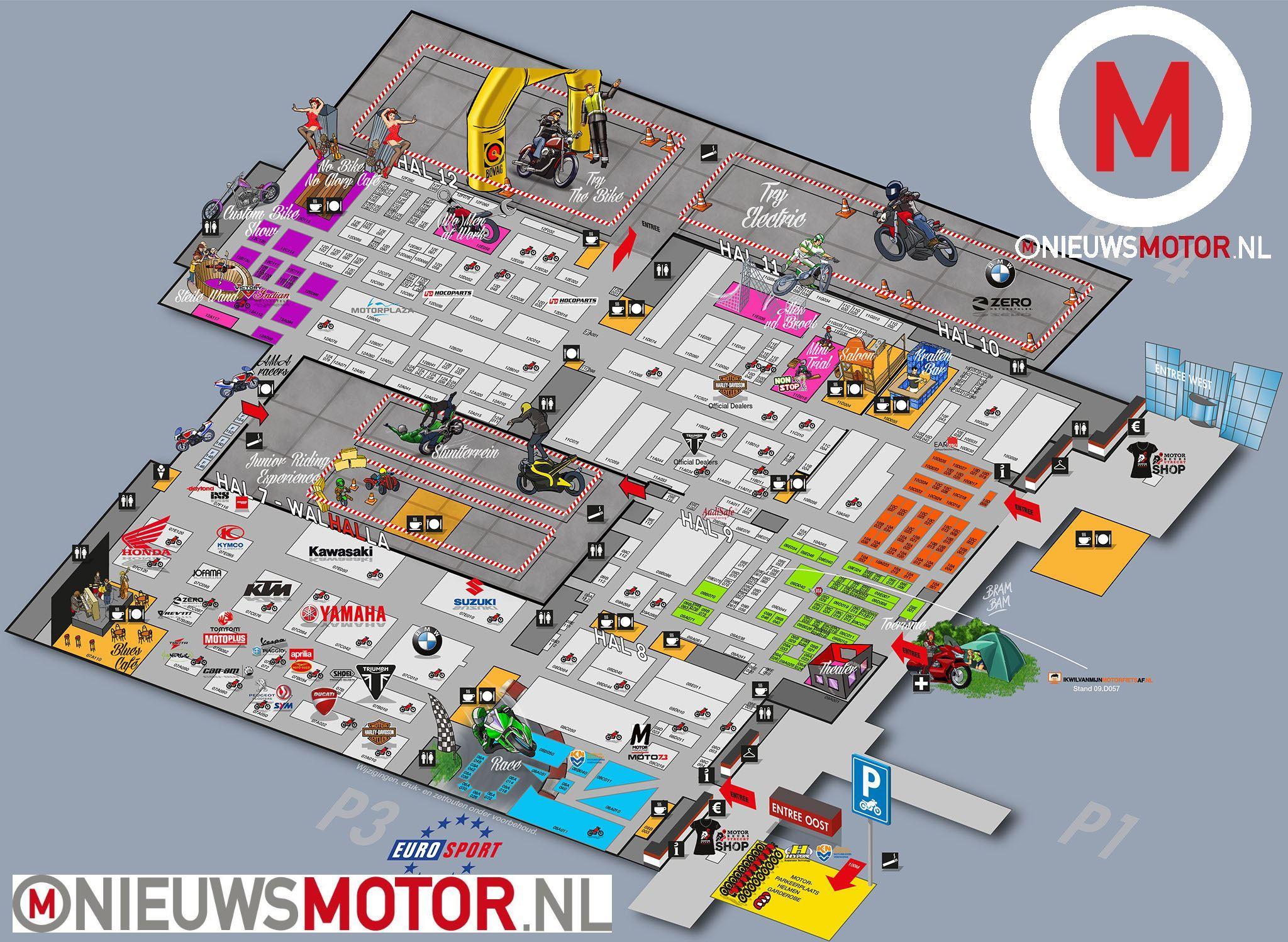 MOTORbeurs Utrecht 2015: openingstijden, plattegrond ...