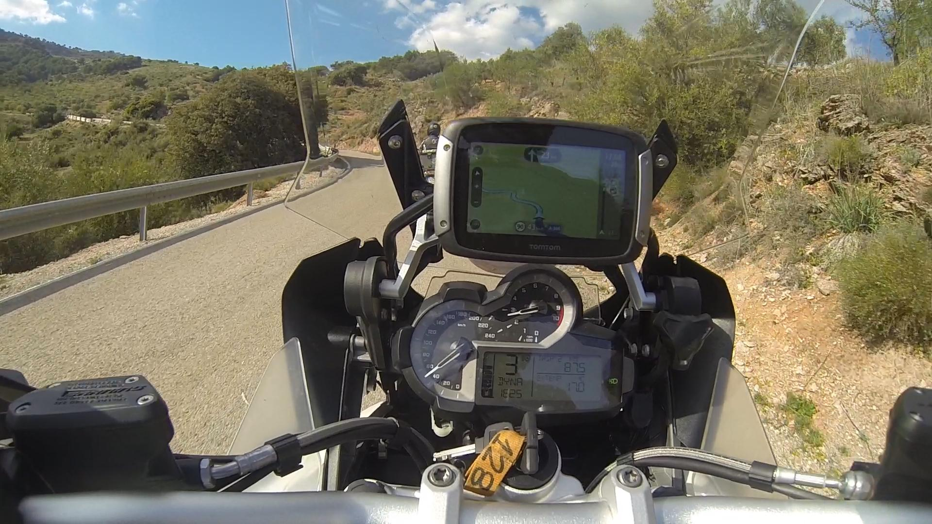 Testmotor Test Tomtom Rijder 400 Navigatiesysteem Kort