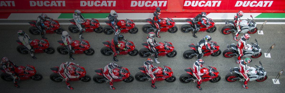 Ducati racetrack waiting