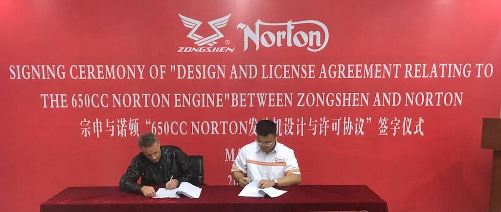 Norton Zhongshen 650 engine