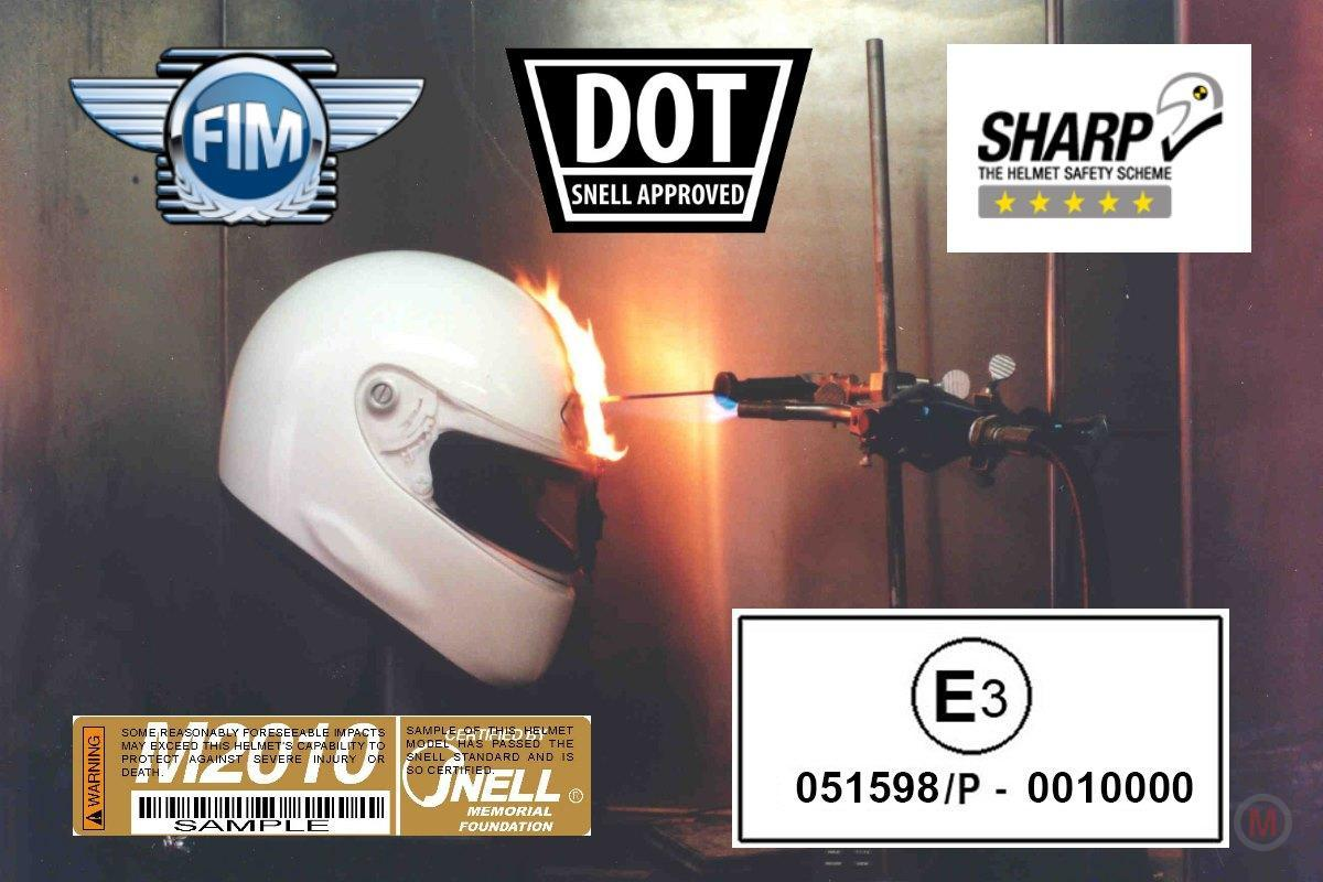 Snell ECE2203 DOT Sharp FIM helmet test