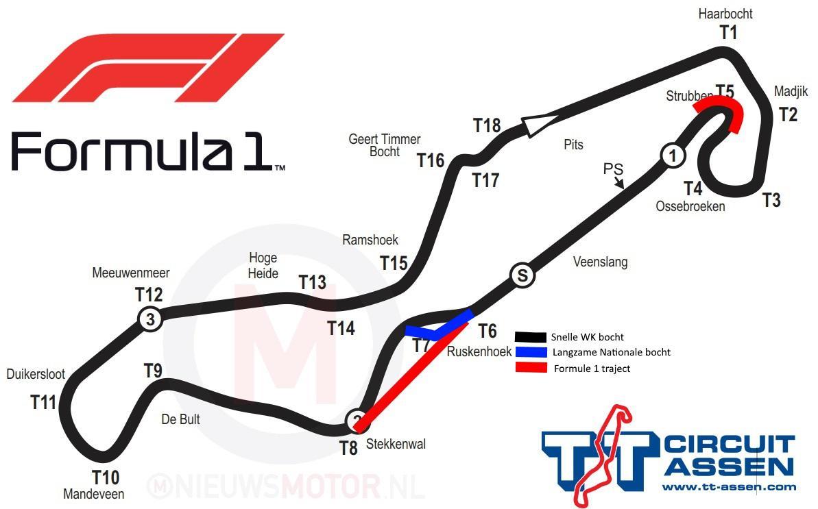 Aanpassingen Aan Tt Circuit Assen Voorgesteld Voor Formule 1 Kort