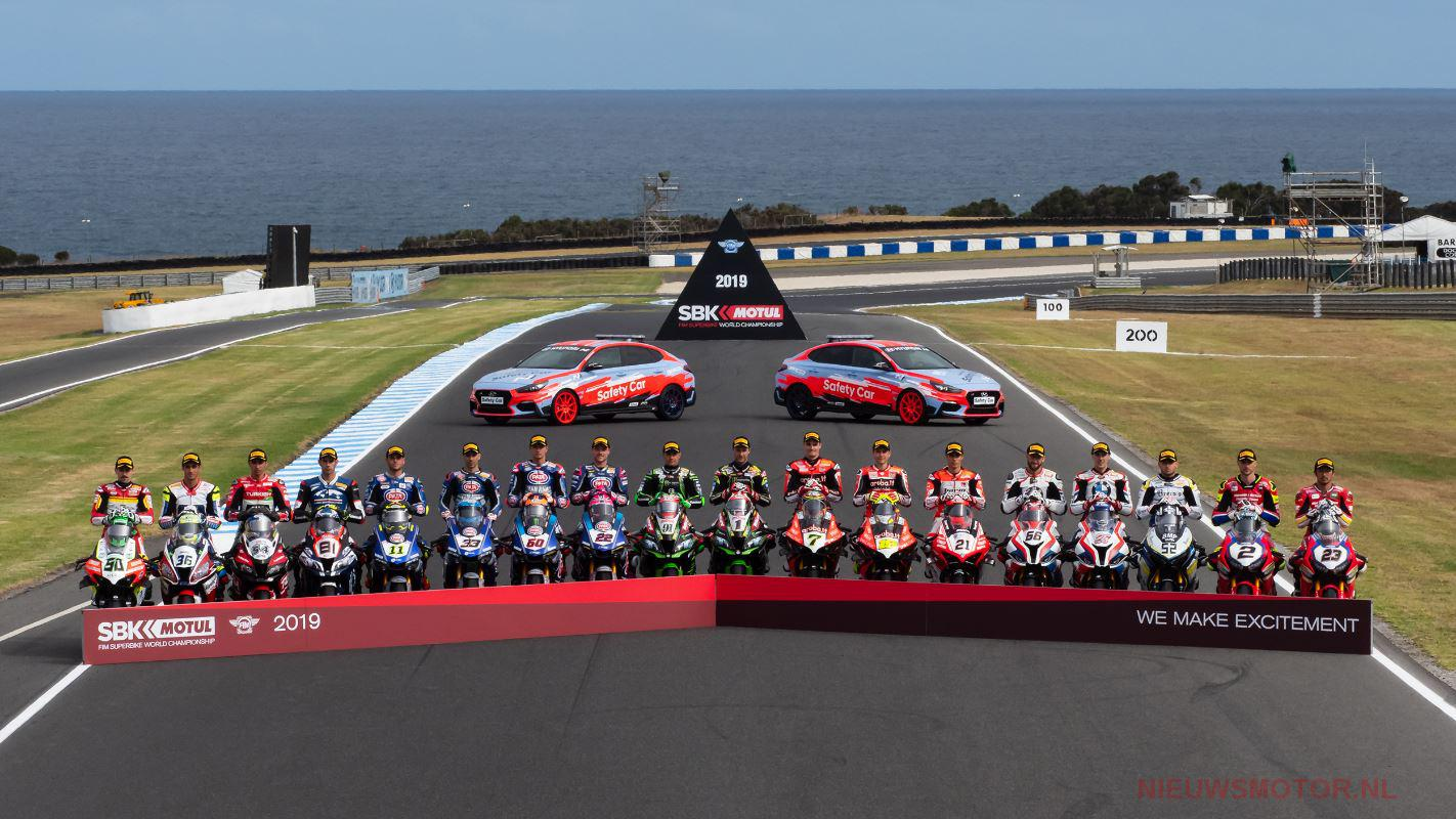 WorldSBK riders grid 2019